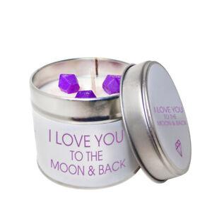 I Love You To The Moon Et Arrière De Soja Candle Tin/choisissez Votre Parfum-afficher Le Titre D'origine