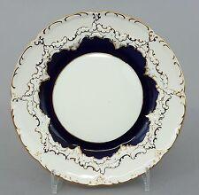 Meissen Teller / Brotteller B-Form, kobaltblau Gold, Durchmesser 15,5 cm