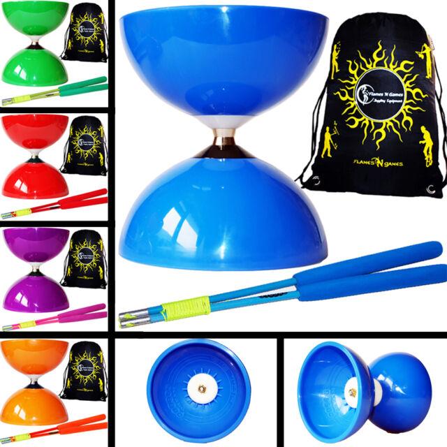 Jumbo Bearing Diabolos Set Diabolo string /& Firetoys/® Bag Ali Dream Metal Diablo Sticks Red Big Top Juggle Dream