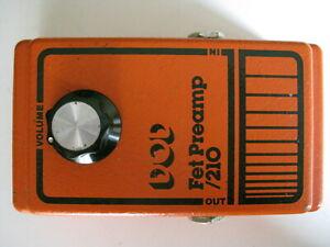 Adaptable Vintage 1981 Dod Fet Preamp/210 Effet Guitare Pédale-afficher Le Titre D'origine