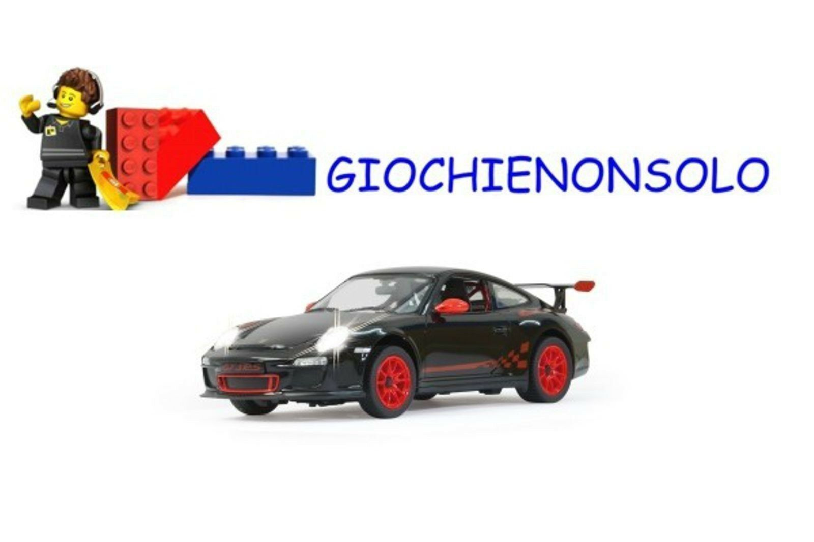 JAMARA 404310 - PORSCHE GT3 RS 1-14 NERO 27 MHZ