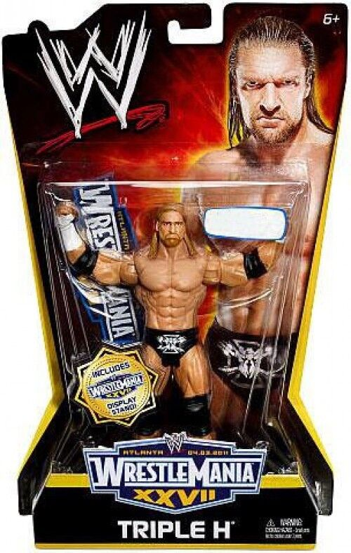 WWE Wrestling WrestleMania 27 Triple H Exclusive Action Figure
