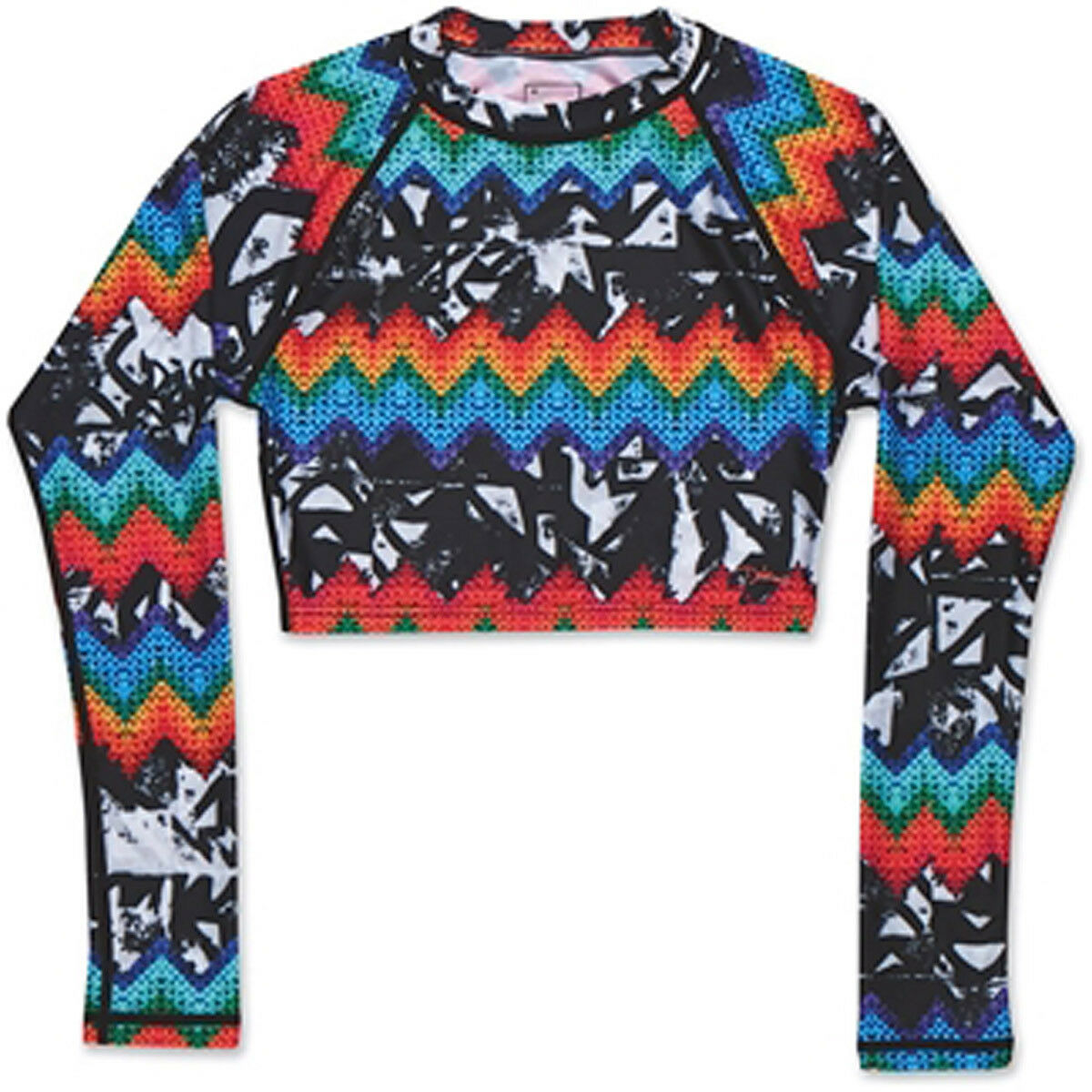New  2015 Dakine Womens Lana L  S Crop Rashguard Shirt Medium Ziggy  wholesale store