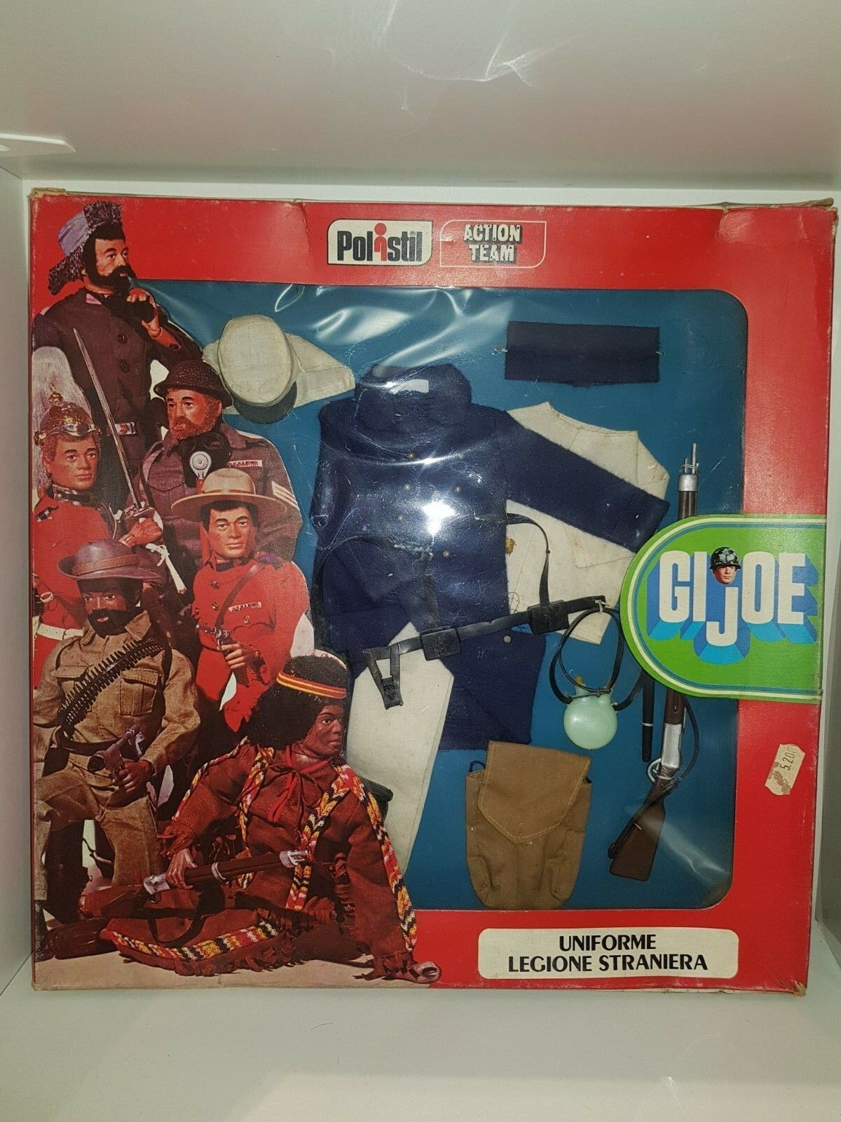 Gi Joe vintage 1975 Polistil  carded French Foreigner legionär  rare