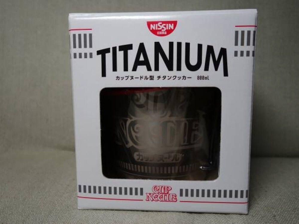 CUP NOODLE NISSIN  Titan Titanium Cooker 800 ml w mesh folding case promotional