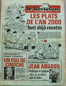 2019 DernièRe Conception Marius L'épatant Le Hérisson N°2117 - 1986 - Les Plats De L'an 2000 - H.langlois Pour Classer En Premier Parmi Les Produits Similaires