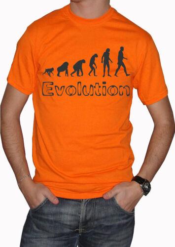 fm10 t-shirt uomo EVOLUZIONE evolution divertente spiritosa MITICHE