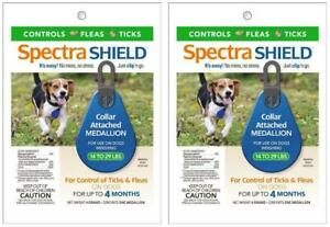 2-Pack-Spectra-Shield-Flea-amp-Tick-Controll-Collar-Medallion-Dogs-14-29-lbs