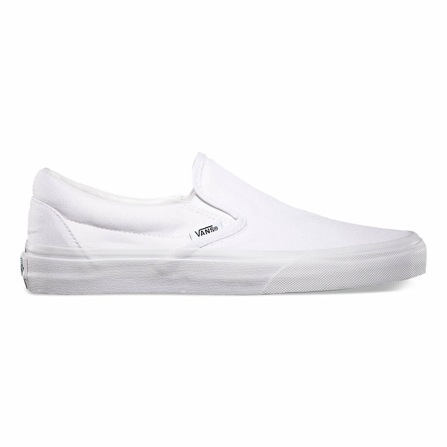 Vans Slip-on Auténtico blancoo Lona Calzado Clásico Todas Las Tallas Envío Rápido