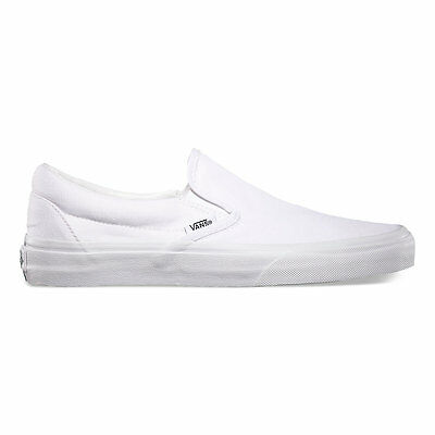 Vans Slip-On True White Canvas Classic Shoes All Size Fast Shipping
