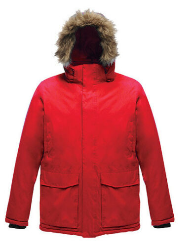 Veste d/'hiver Hommes Parka étanche winddich capuche avec fourrure synthétique Regatta s-3xl