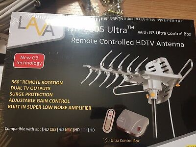 LAVA HD2605 Ultra rotor Remote Controlled HDTV Antenna with G3 Control Box