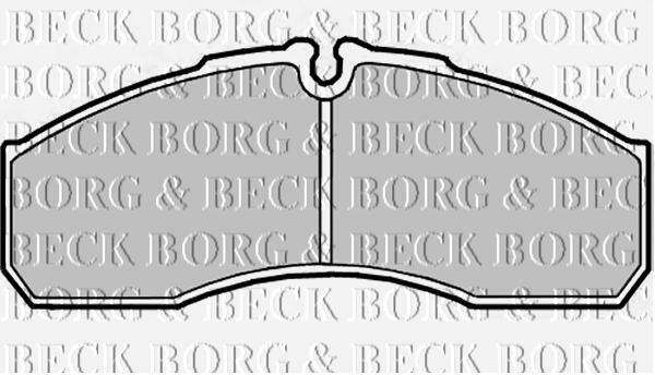 FRONT  BRAKE PADS FOR MERCEDES-BENZ GENUINE OE BORG & BECK  BBP2181