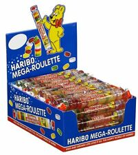 Haribo Mega Roulette Gummis 24 COUNT Case Popular German Candy FREE SHIPPING