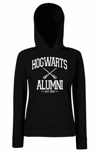TRVPPY Damen Hoodie Kapuzenpullover HOGWARTS Alumni potter harry quidditch magic