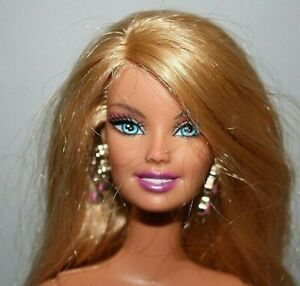 Details About Barbie Doll Nude Silver Rose Tattoo On Thigh Leg Earrings H2o Design Studio Euc