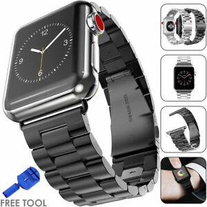 Metal Steel Link iWatch Band Strap for Apple Watch Series 6 SE 543 38/40/42/44mm