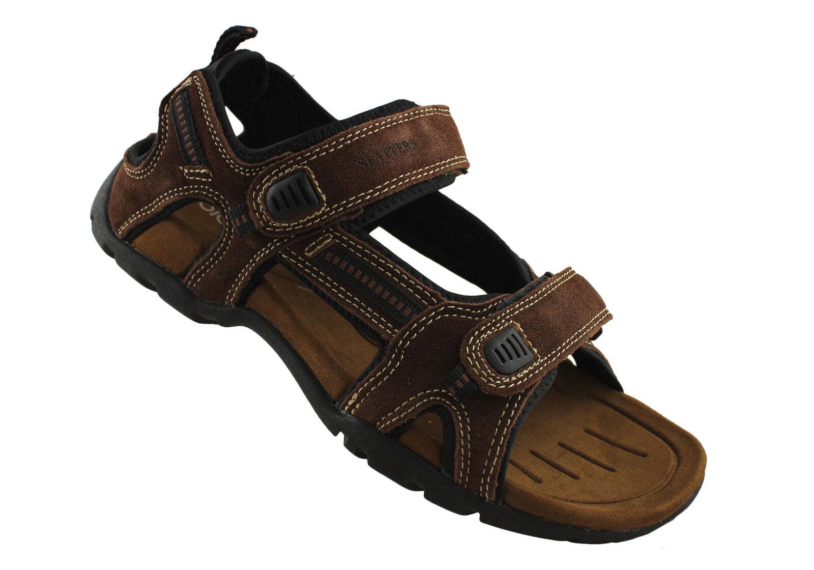 18b02564374 ... Sandal leather adjustable strap walking shoe mens Slatters Broome II  e0c178 ...