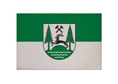 Aufnäher München Fahne Flagge Aufbügler Patch 9 x 6 cm