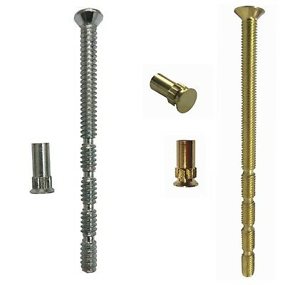 2 x M5 Bolt and Sleeve Knobs Patio Door Handle Chrome Fixing Bolt Connecting Screws and Sleeve for Door Handle Escutcheons and Others Pair Male to Female