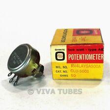 PPB-50G 22Kohm 50W Ceramic Wire Potentiometer Rheostat NOS PALLADIUM CONTACTS!