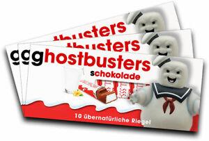 geschenk, Gadget Für Kinderschokolade Liberal 3x Aufkleber Ghostbusters motiv 2