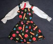 Doll clothes for Barbie, Sindy, Tammy: Schoolteacher cotton dress
