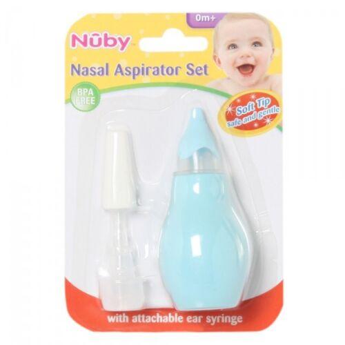 NEW Nuby Soft Tip BPA Free Nasal Aspirator Set with Attachable Ear Syringe