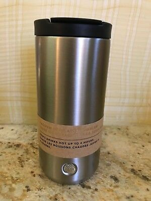 New Starbucks Vacuum Insulated Flip Top Silver Stainless