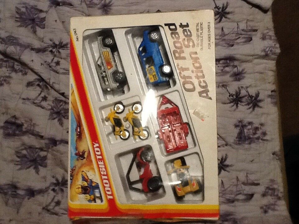 Vintage 1986 Tootsie Toy OFFROAD ACTION SET Set, No.1743 trike 3 wheeler Atc