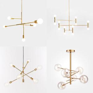 Image Is Loading Modern Chandeliers Light Pendant Lighting Gold Metal