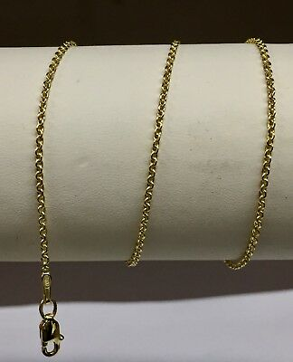 "14k White Gold Cable Link Pendant Chain//Necklace 18/"" 3 mm 4.5 grams WRCAB80"