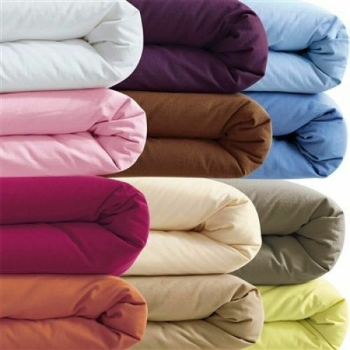 1000TCEgyptianCotton Fitted//Flat sheet//Duvet King//Emperor//SuperKing Solid Color
