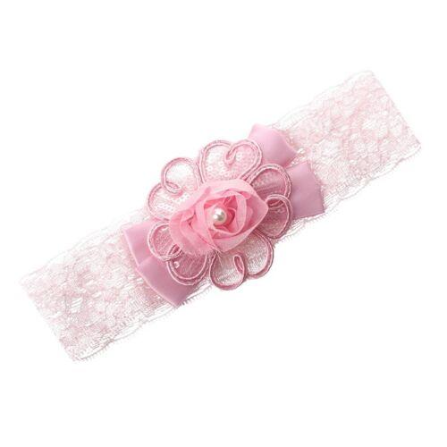 1X Baby Maedchen Kind Pfau Feder Stirnband Haar Band Haar Blumen Rosa M7I7