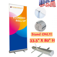 Us Stock 335 X 80 H Economic Roll Up Banner Stand Booth Display Stand