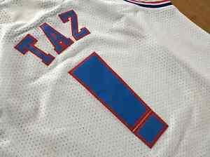 1dc59276580 Space Jam Jersey Tune Squad White TAZ Movie Basketball Size Shirt ...