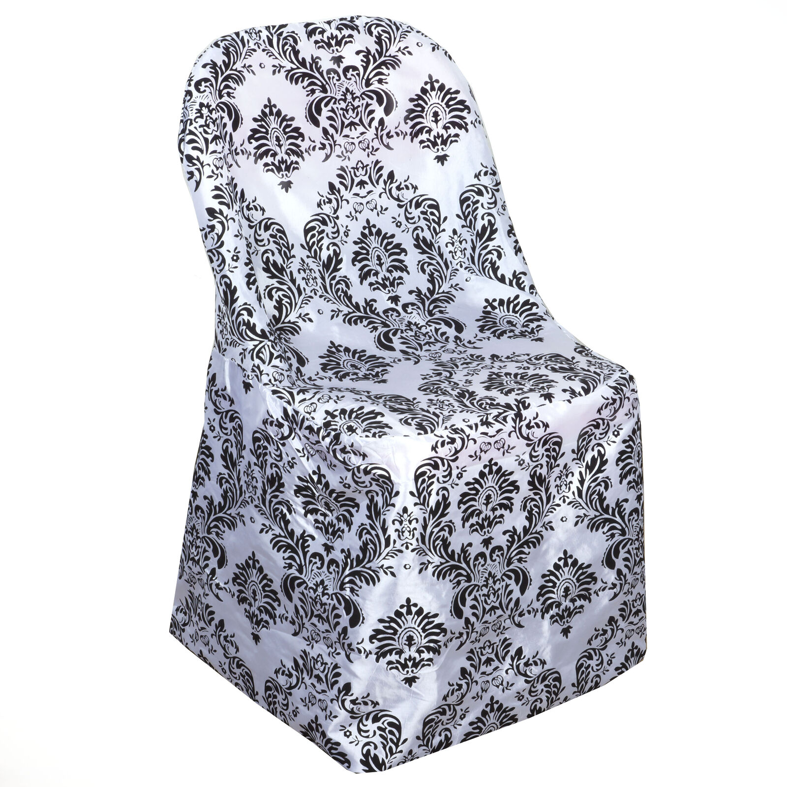 10 Black White Folding Chair Covers Damask Wedding Decor Event Banquet Supplies For Sale Online Ebay