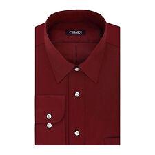 New Chaps by Ralph Lauren Men's Regular-Fit Stretch Collar Dress Shirt Red $50