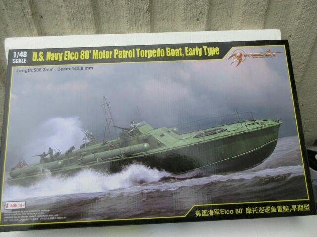 Merit 1/48 64802 US Navy ELCO 80 PT Boat Early Type Model Kit
