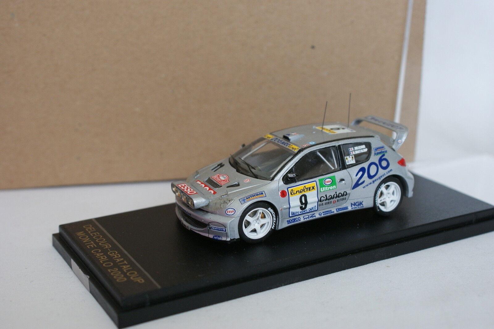 Provence Moulage Kit Monté 1 43 - Peugeot 206 WRC Rallye Monte Carlo 2000 N°9