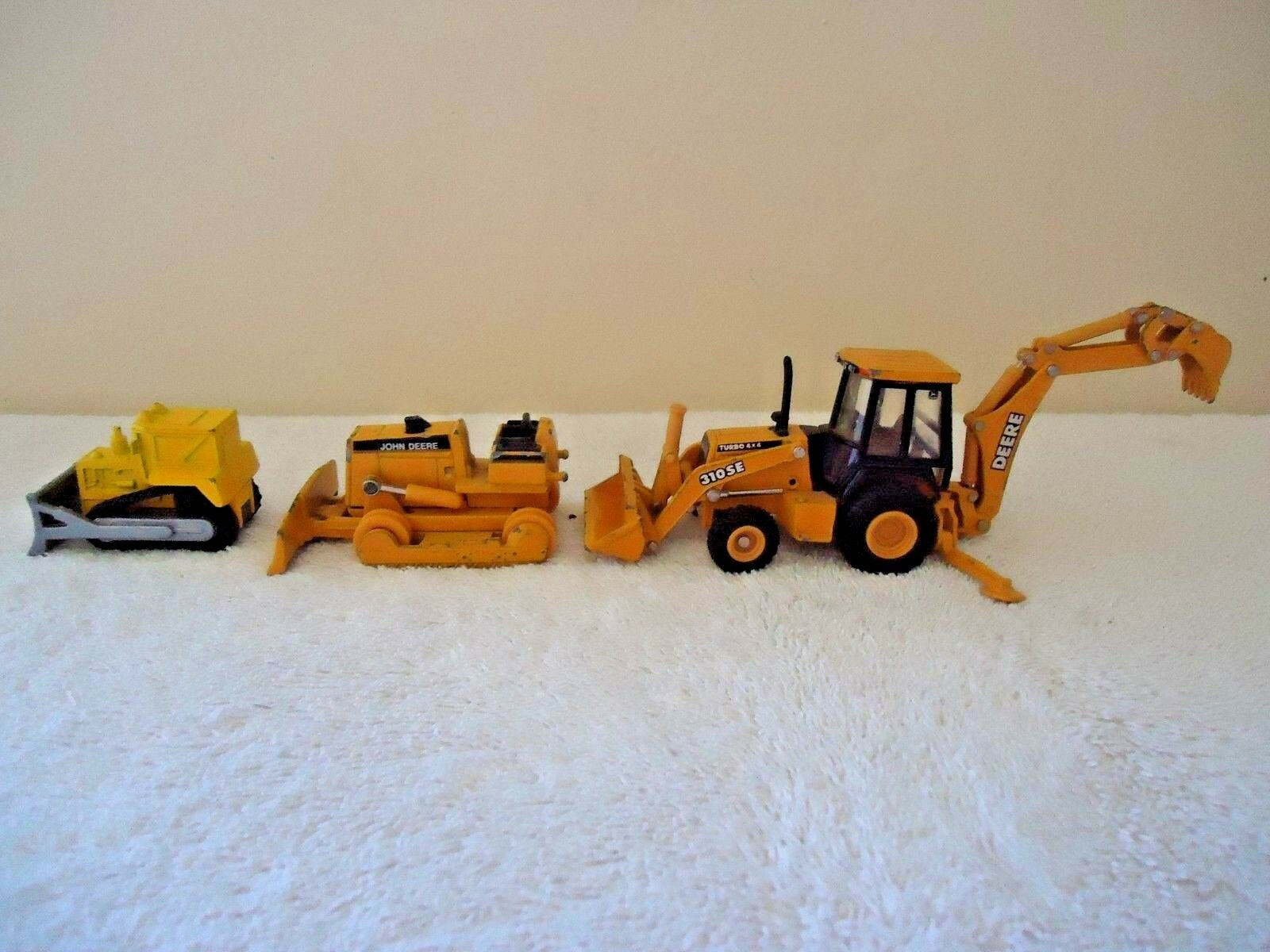 Lot Of 3 Construction Toys,2,John Deere,1,Other   GREAT COLLECTIBLE LOT