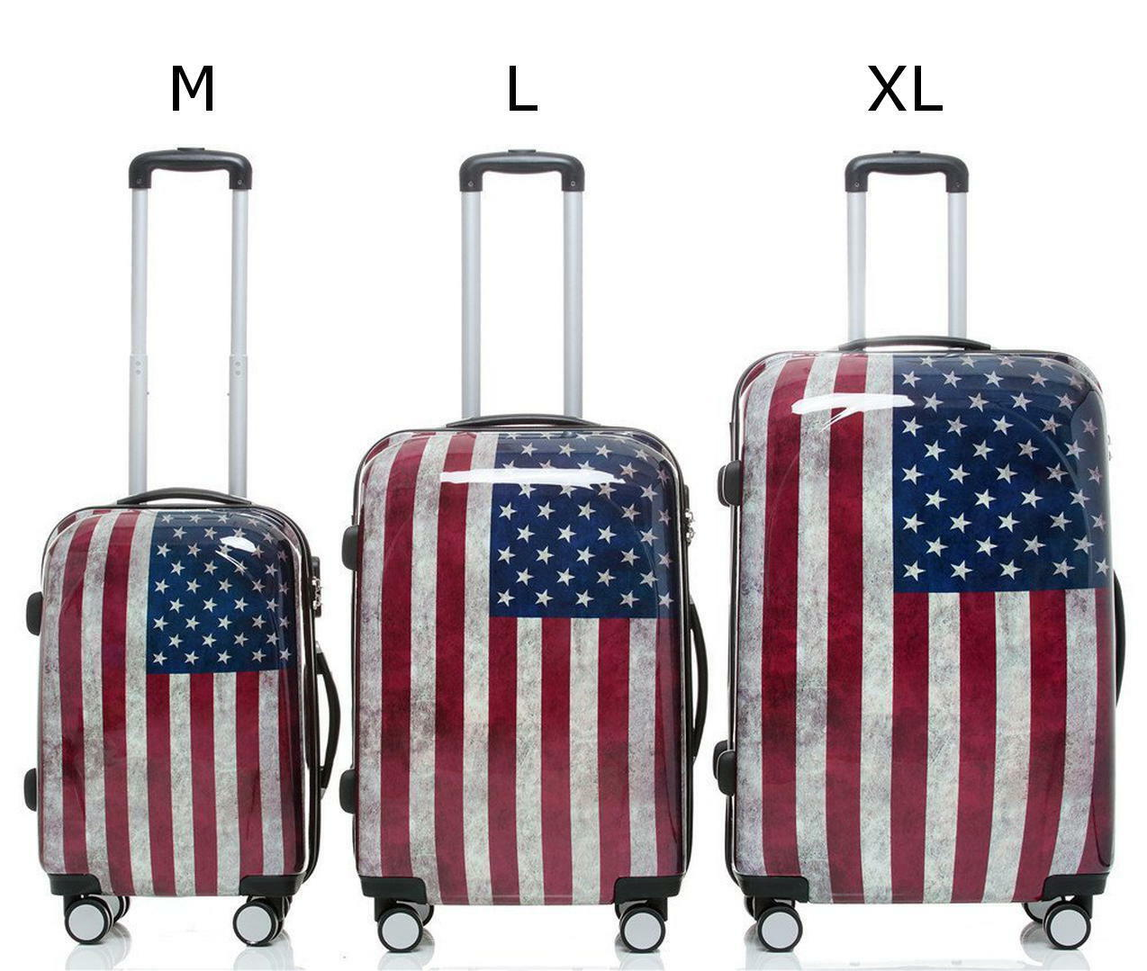 Valise trolley valise de voyage voyage trolley trolley trolley Coquille Dure Bagages taille xl usa drapeau ba82c5