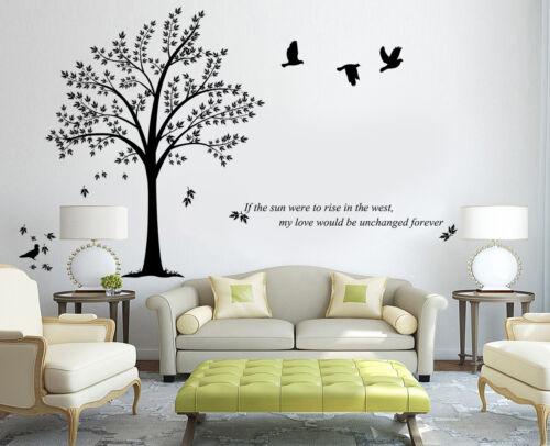 X-Large Birds Tree Branch Wall Stickers Vinyl Decals  UK RUI247
