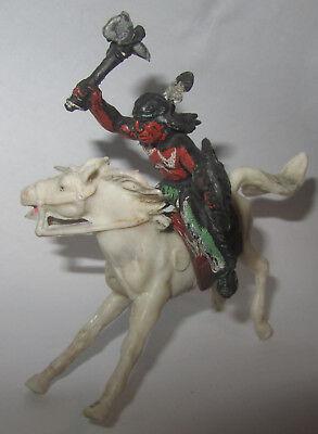 Focoso Soldatino Xiloplasto Indiano Con Tomahawk E Scudo A Cavallo Sella Gomma