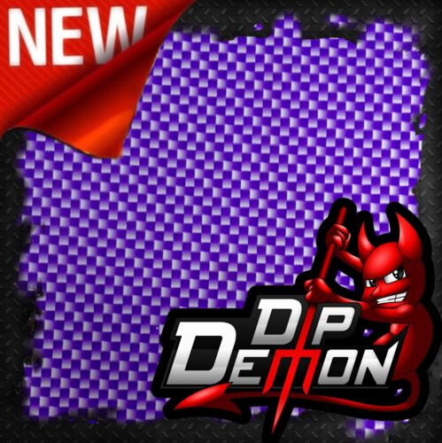 PURPLE CARBON FIBER HYDROGRAPHIC WATER TRANSFER FILM HYDRO DIPPING DIP HYDRODIP