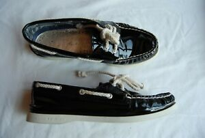 84ef2c6c428 Image is loading Black-Patent-Leather-SPERRY-TOP-SIDER-Loafers-7-