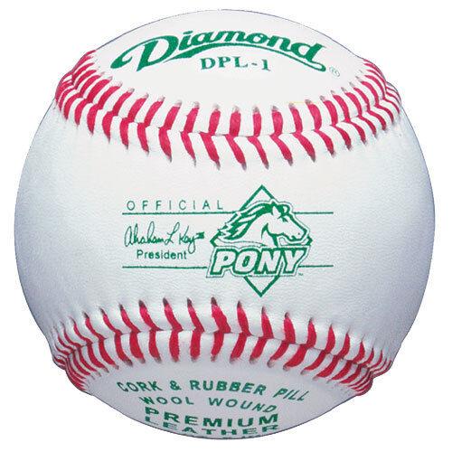 Diamond DPL-1 Pony League Baseball - 1 Dozen