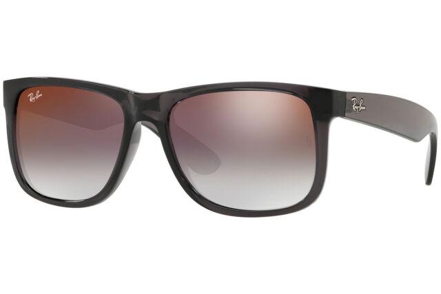 0068818ffe Ray-Ban Sunglasses Rb4165 606 u0 Justin Transparent Grey Gradient Red Mirror