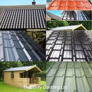 Image Is Loading Metal Roof Sheets Tile Effect Roofing Manufactured In