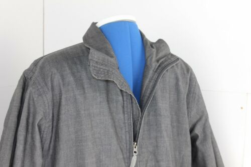 Hommes M Howies Look Denim Waterpoof Veste Gris qBvRw46